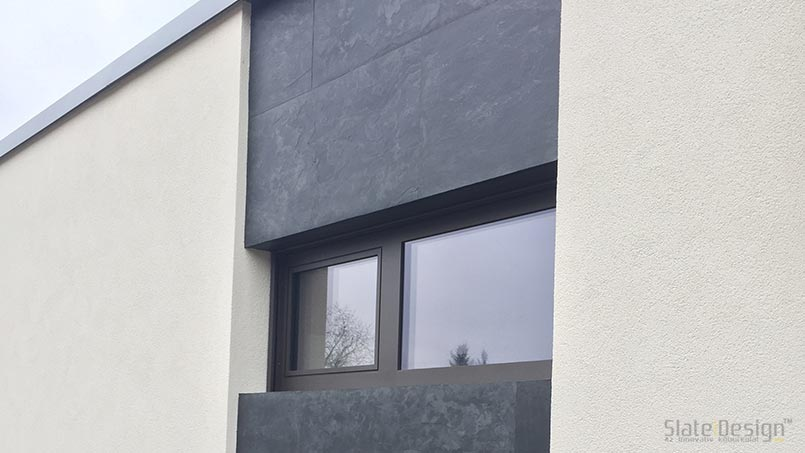 Placare fațadă casă familială - placării cu piatră a fațadelor