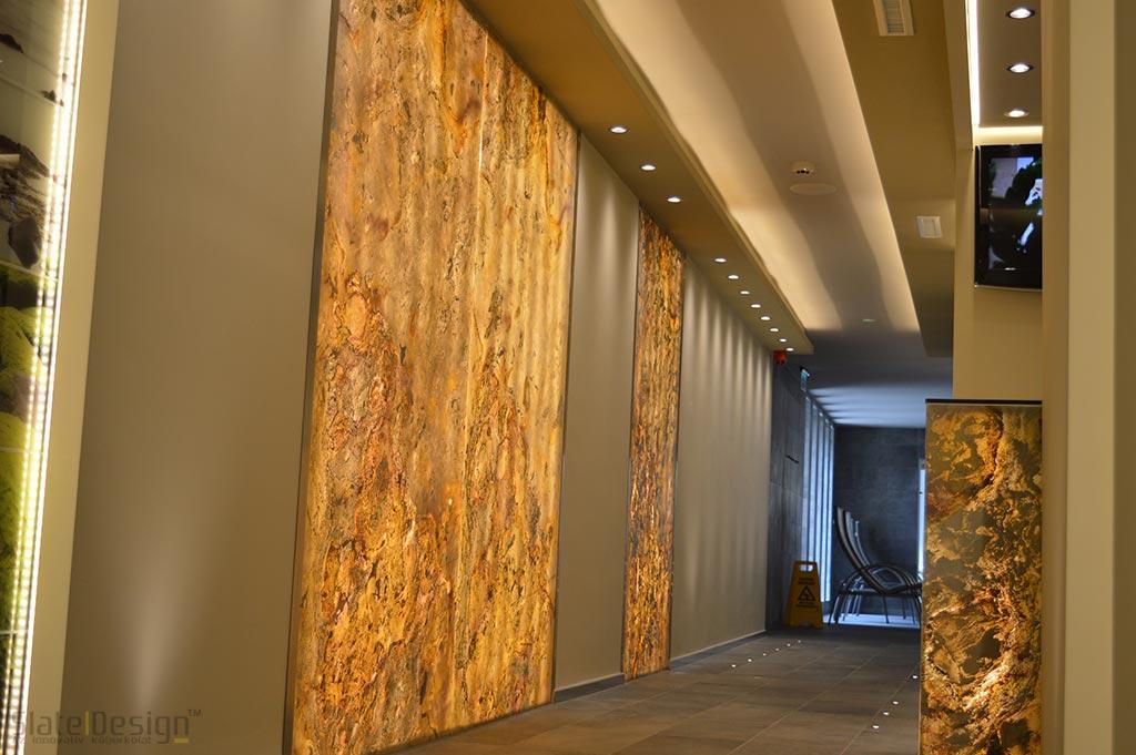Bonvital Wellness & Gastro Hotel - furnir de piatră translucid